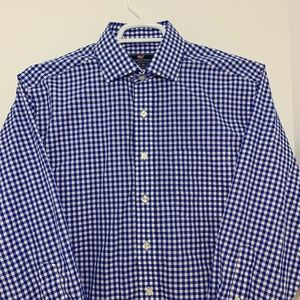 Vineyard Vines Cooper Shirt Blue and White Check